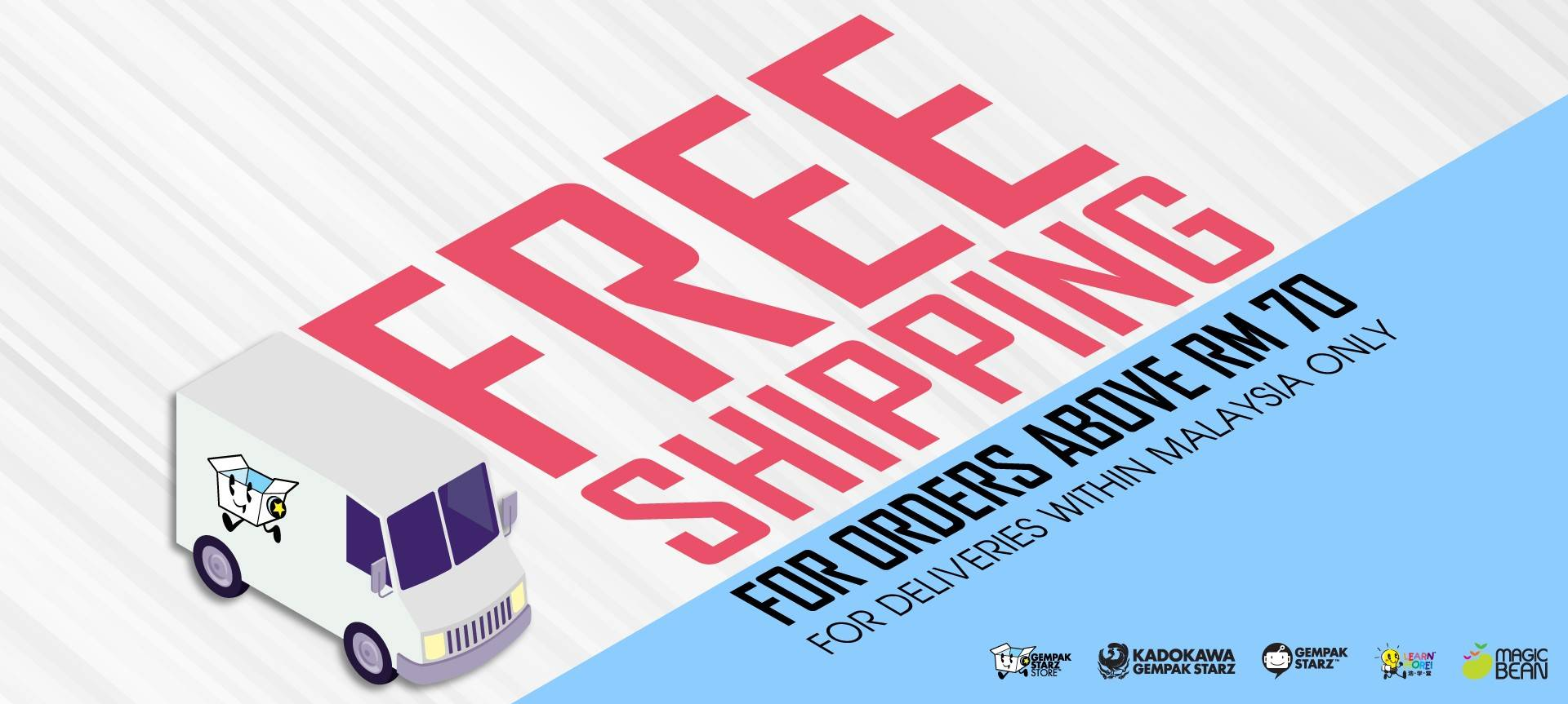 Free Shippping min. purchase RM70