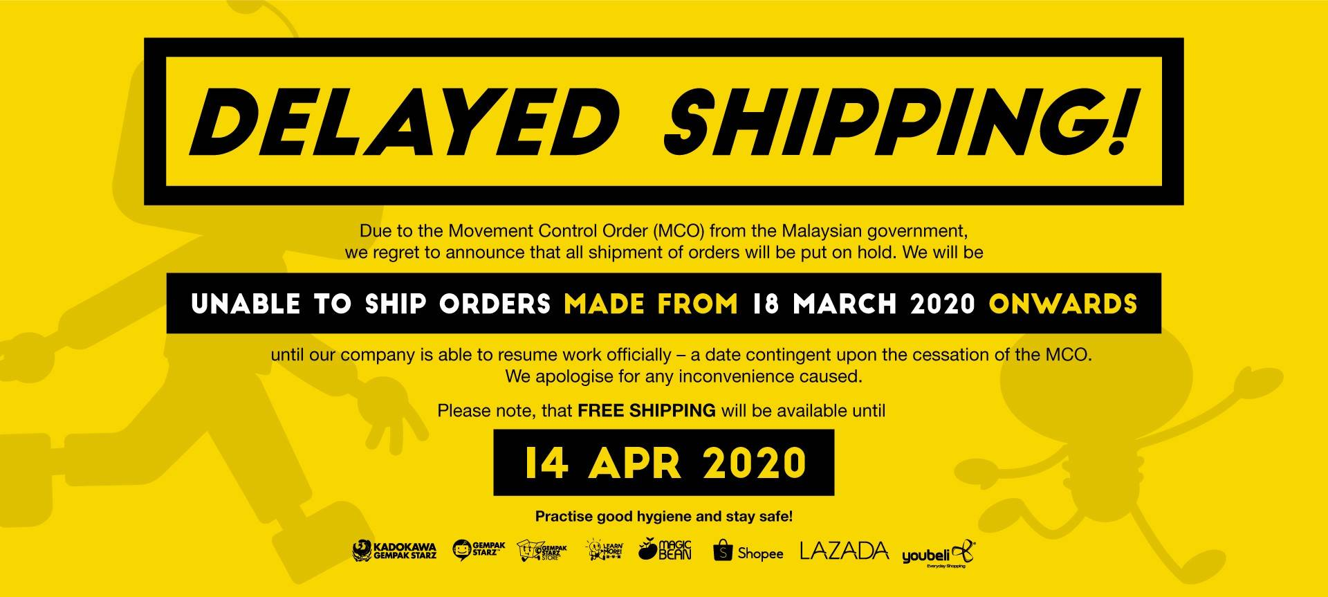 Free Shipping during Covid-19 MCO!