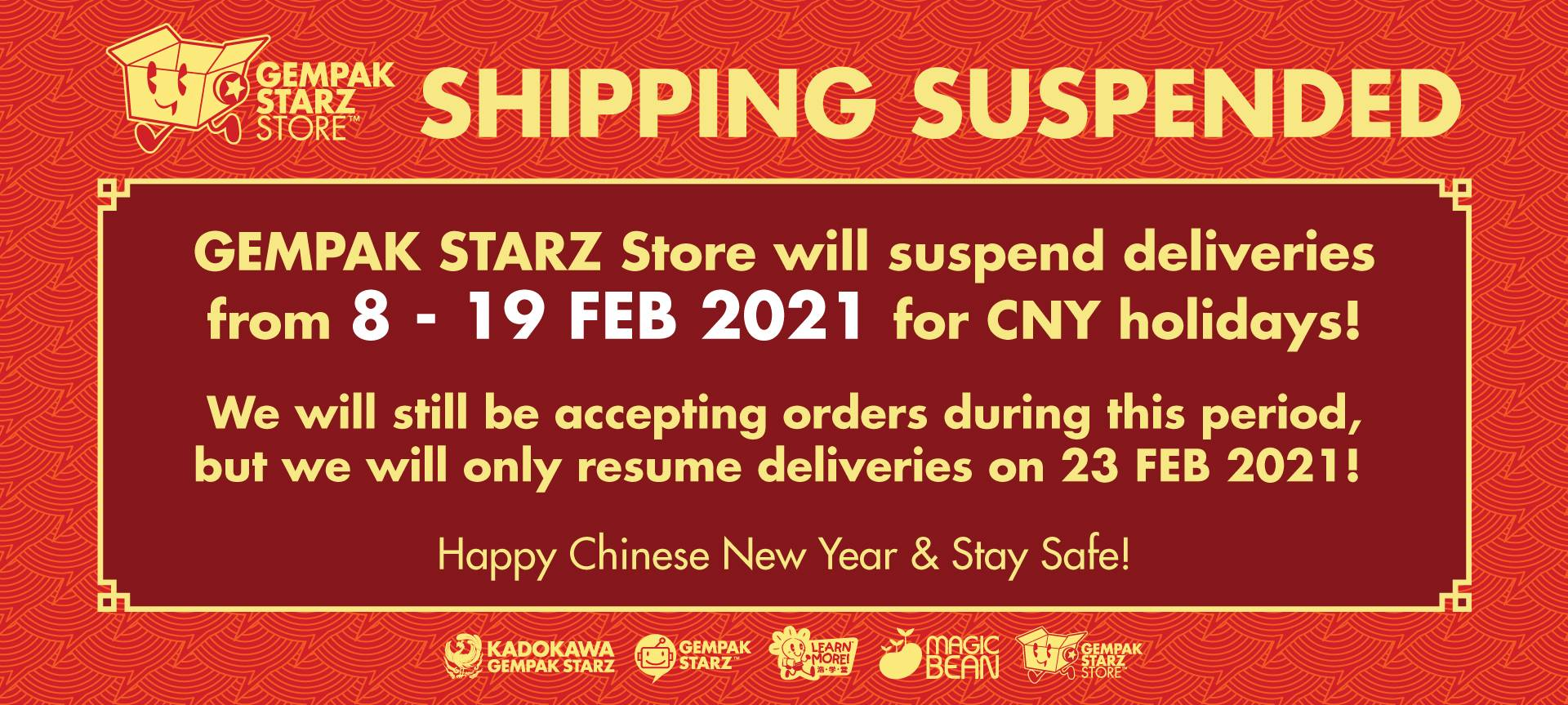 CNY 2021 Stop Shipping