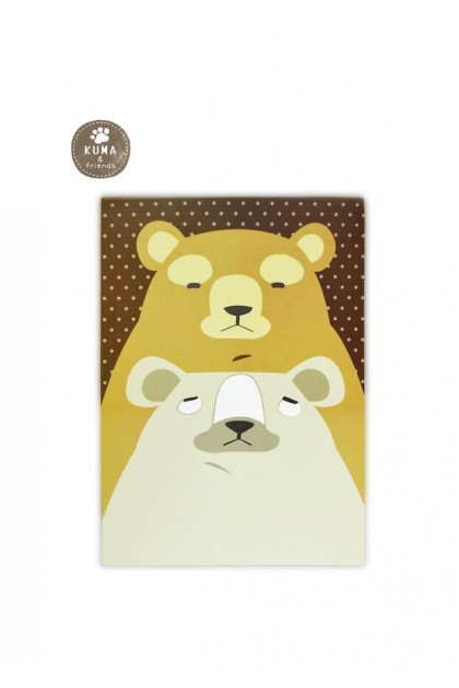 KUMA & FRIENDS A6 NOTEPAD