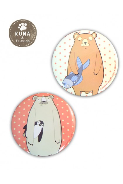 KUMA & FRIENDS  2 PCS PACK BADGES