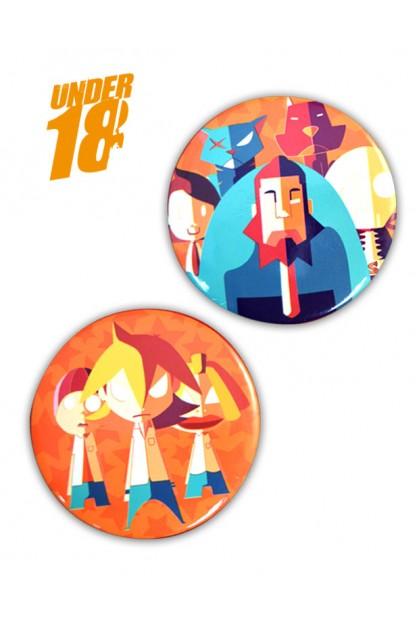 LAWAK UNDER 18 2 PCS PACK BADGES