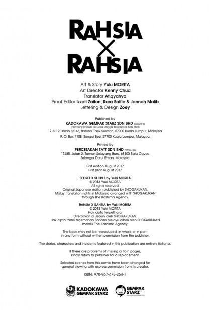 Rahsia x Rahsia