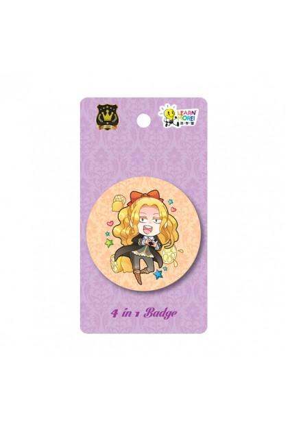 Prince Series 58mm - 4 in 1 Badges (3 Designs)