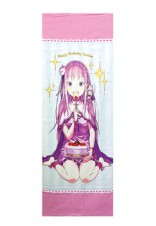 Re ZERO Big Towel celebrating Emilia's Birthday Original Illustration from Otsuka Shinichiro Sensei ver.