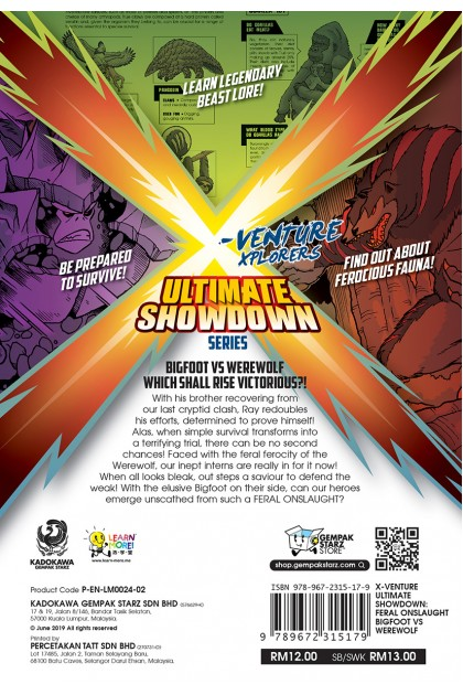 X-VENTURE Ultimate Showdown 02: Feral Onslaught Bigfoot VS Werewolf