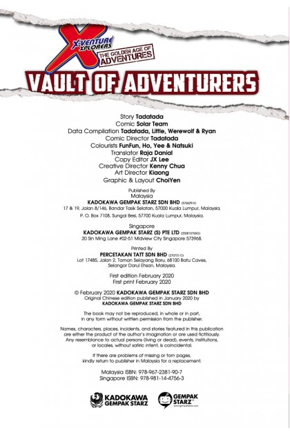 X-VENTURE The Golden Age of Adventures: Vault Of Adventurers