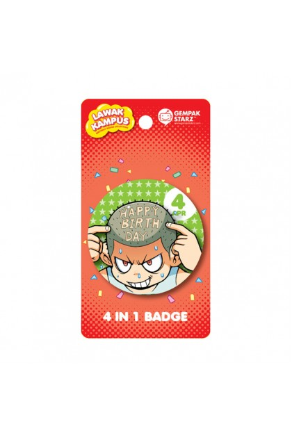 Lawak Kampus Birthday Badge - APRIL
