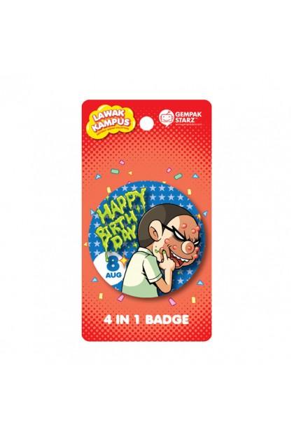 Lawak Kampus Birthday Badge - AUG
