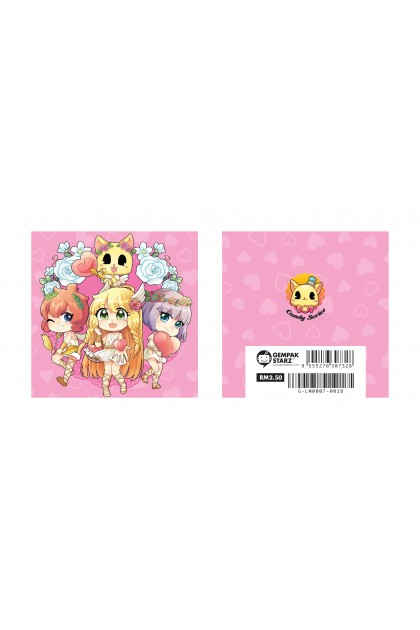 Candy Series Cuties Heart Memopad