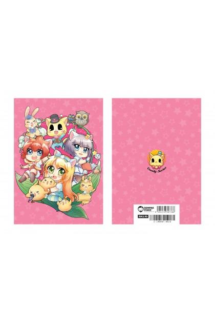 Candy Series Cuties Pink Stars Memopad (A6 Metalised)