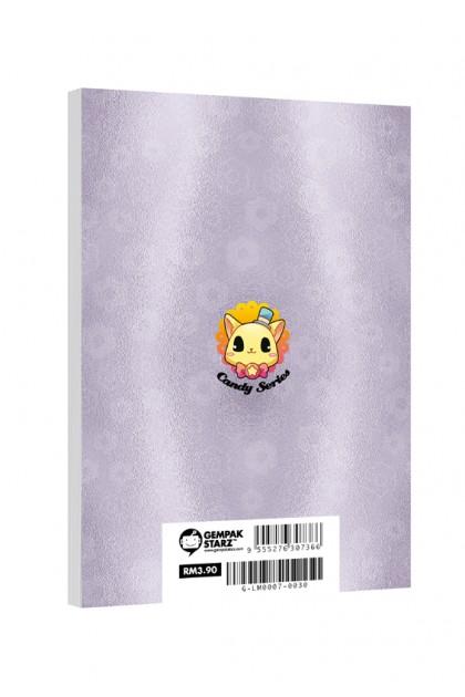 Candy Series Cuties Violet Flower Memopad (A6 Metalised)