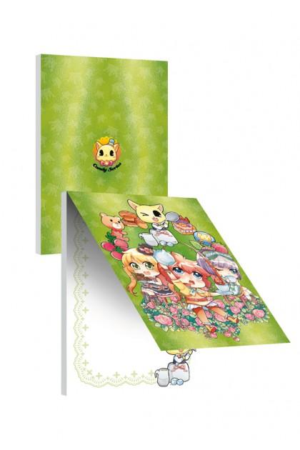 Candy Series Cuties Green Crown Memopad (A6 Metalised)