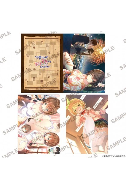 MF Bunko J Summer School Festival 2019 Kawaikereba H Demo Suki Ni Natte Kuremasu Ka? Clear File Holder Set