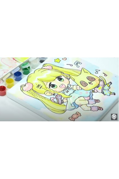 Candy Series Colouring Canvas Board