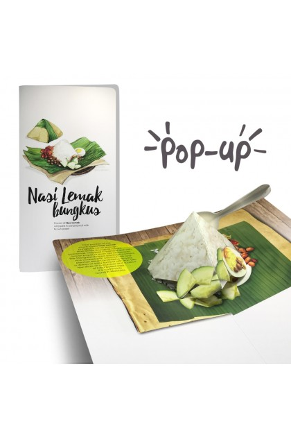 MUOC - Pop-up card Malaysian Food & Cultures Series (Long)