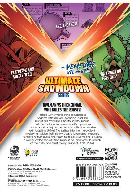 X-VENTURE Ultimate Showdown 10: Fowl Play Owlman vs Chickenman