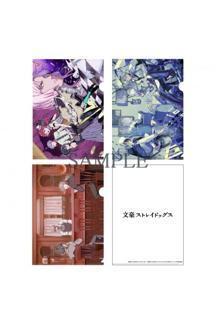 """""""Bungo Stray Dogs"""" Clear File Holders set with Harukawa 35 Illustration  (Summer Comiket 2020 (C98) version"""