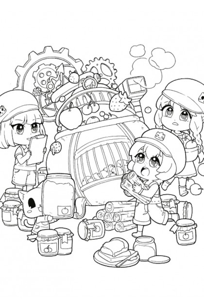 Candy Series B5 Colouring Book